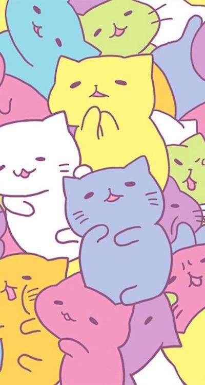 kawaii wallpaper iphone | wallpaper kawaii iphone | Pinterest | Cat pattern, Kawaii and Cute cats