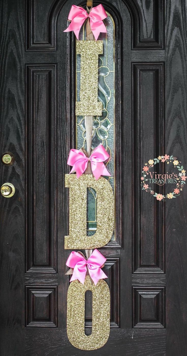 mint bridal showers wedding shower decorations Find this Pin and more on Virgie s Treasures I DO Bridal Shower Door Decoration Pink