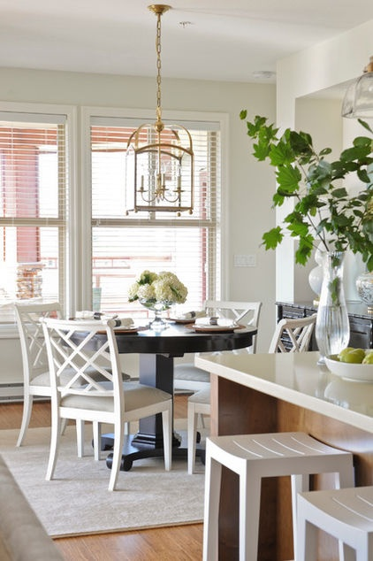 a dining room i can live with traditional kitchen by kerrisdale design inc table lighting ideas