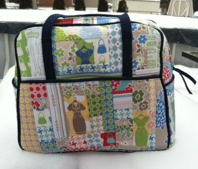 My Amy Butler Weekender Bag with Riley Blake Designs Millie's Closet by Lori Holt. | Weekender ...
