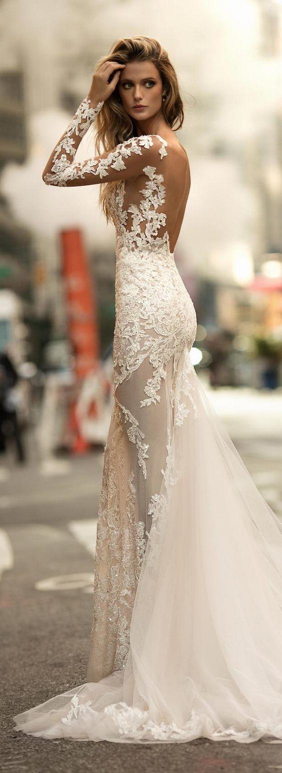 backless wedding gowns white wedding dresses BERTA Fall Winter Wedding Dresses
