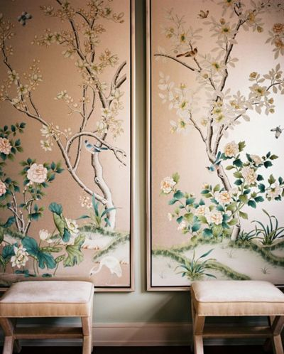 1000+ ideas about Painted Wallpaper on Pinterest | Silk Wallpaper, Chinoiserie and Chinoiserie ...