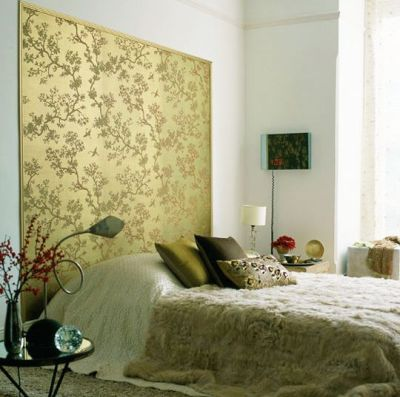Wallpaper panel Behind the Bed | Wallpaper I love !! | Pinterest | Fabrics, Fur and Chinoiserie