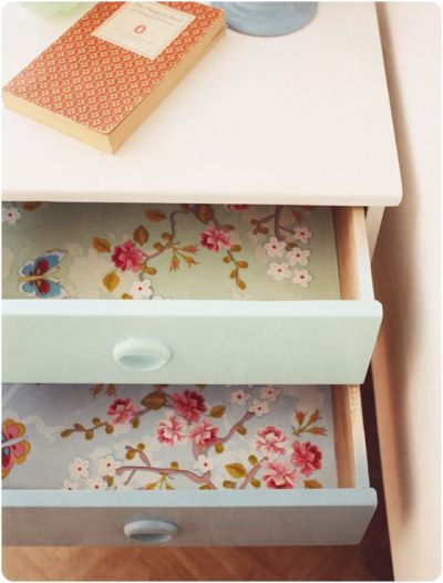 wallpaper in the drawers | DIY | Pinterest | Drawer liners, Chang'e 3 and Paper