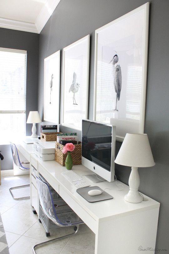 create a sleek u0026 modern home office setup with two ikea micke desks side by desk for ikea