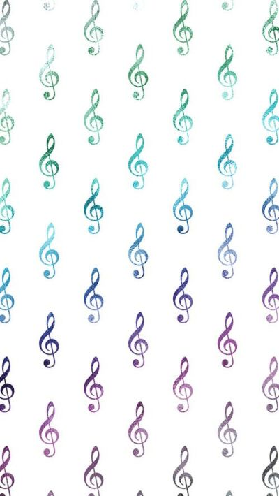 Rainbow Wallpaper Musical Clef Notes Free iPhone Wallpaper | SILVER SPIRAL STUDIO | Pinterest ...