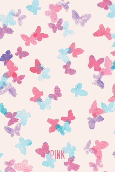 Victoria's Secret PINK Phone Wallpaper | Art inspiration | Pinterest | Butterfly wallpaper ...