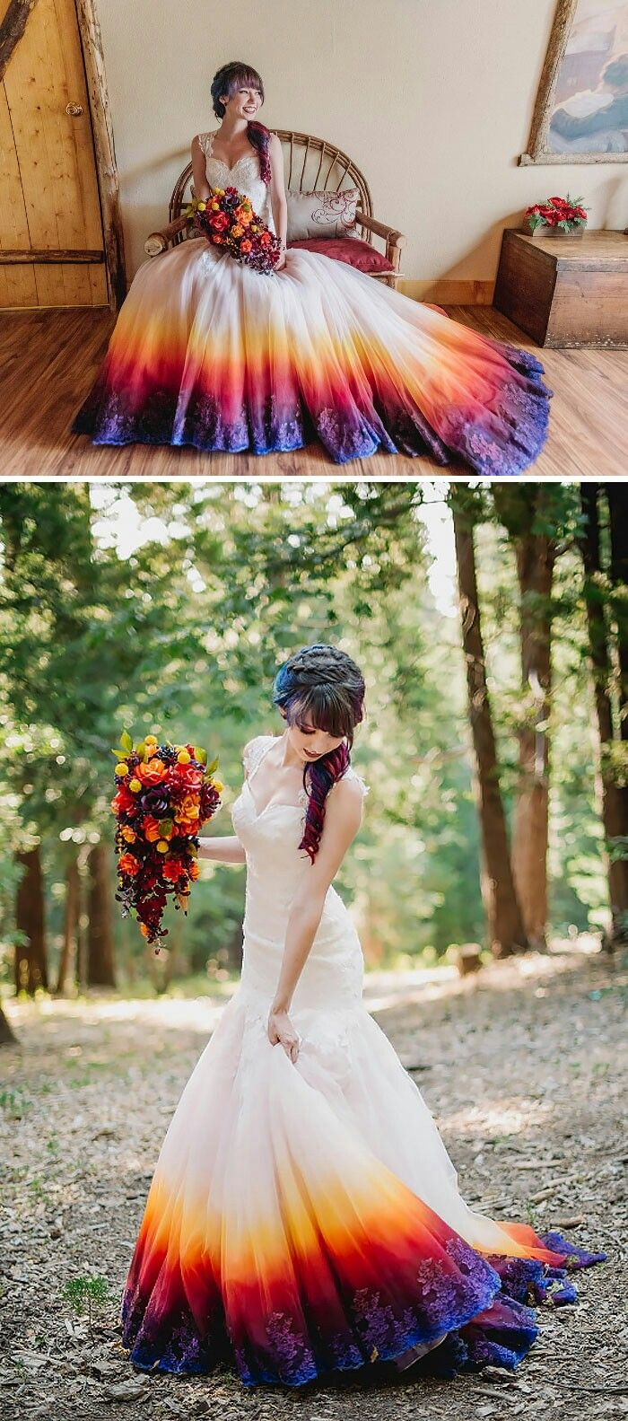 dipped wedding dress ombre wedding dress Done whens the wedding