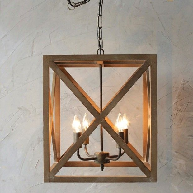 wood and metal square chandelier i wonder how easy it would be to build a wooden lighting e