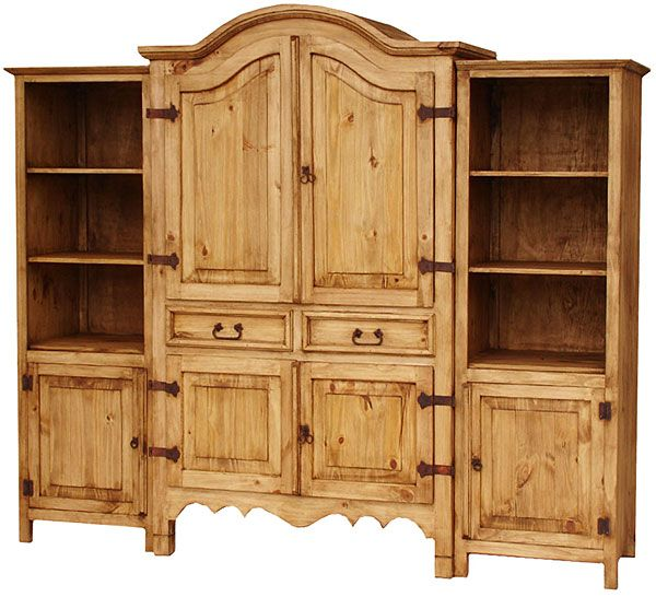 rustic entertainment centers furniture sierra mexican pine center image
