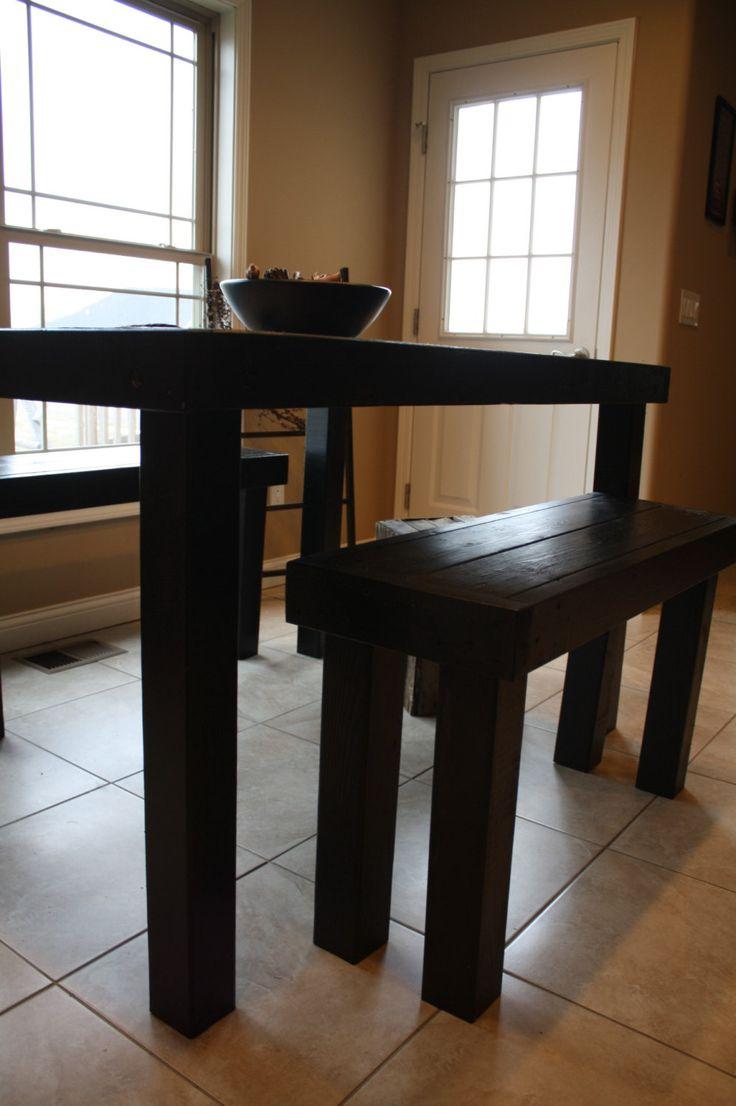pub style dining sets kitchen bar table 6 FT Unique Primtiques Primitive Black PUB STYLE Tall Kitchen Dining Bar Table With Two Matching Benches Set Custom Sizes Colors