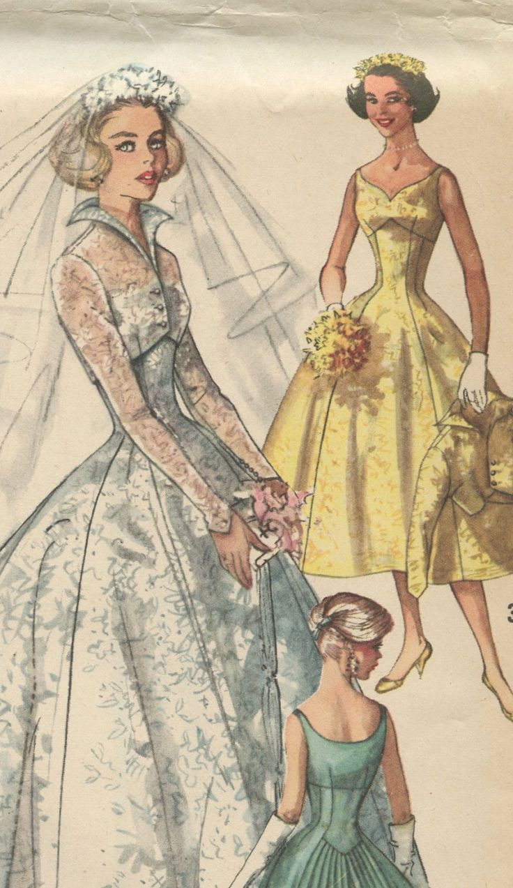 wedding dress patterns vintage wedding dress patterns s Simplicity Vintage Wedding Dress Pattern