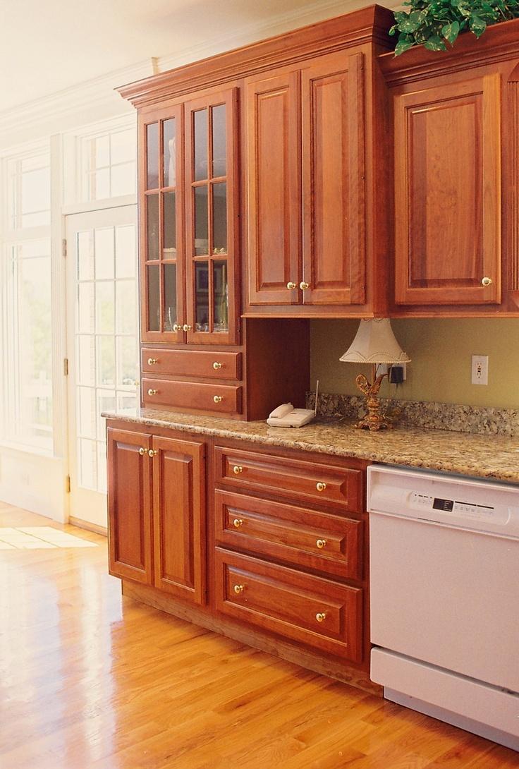 kitchens custom kitchen countertops Custom Kitchen Cabinets in Cherry Maple Granite Stainless Steel Glass Quartz