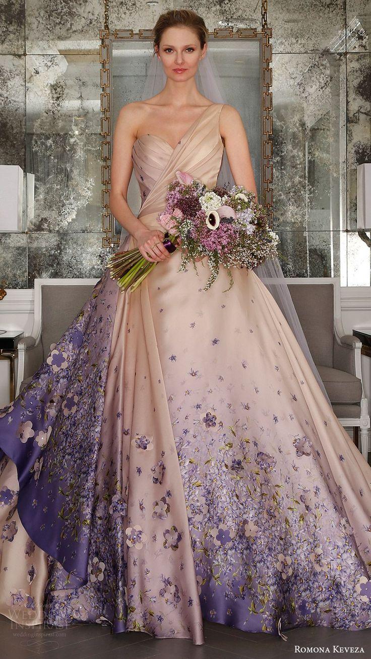 romona keveza wedding dresses wedding dress with color Romona Keveza Spring Wedding Dresses Ode to Paris Bridal Collection