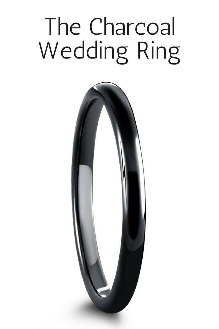 tungsten wedding rings mens firefighter wedding bands 2mm Black Tungsten Carbide Wedding Ring