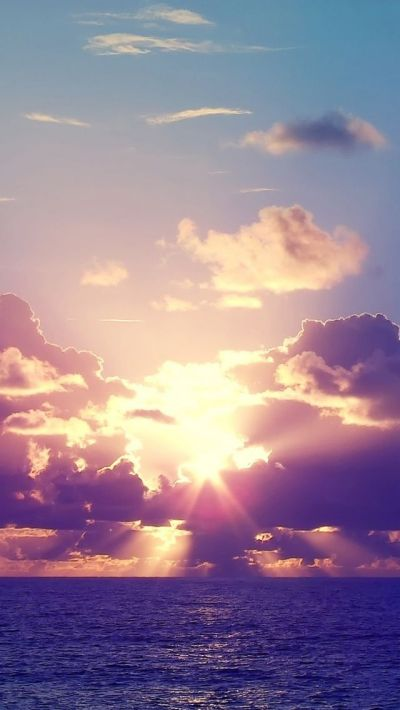 Ocean Sunset Rays Clouds iPhone 5 Wallpaper.jpg 640×1,136 pixels | Bucket list! | Pinterest ...