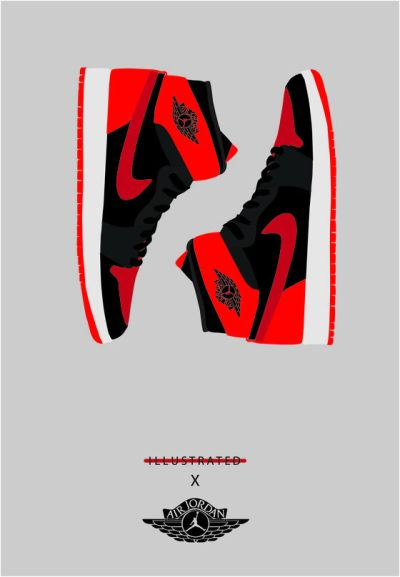 Image of A3 Jordan Bred 1 Poster. | FASHION // MENS | Pinterest | Nike roshe run, Nike and Products