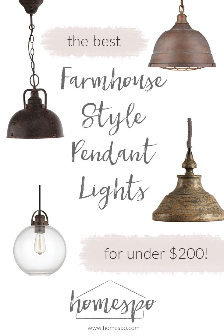 kitchen pendants farmhouse kitchen lighting fixtures Click through to shop my favorite farmhouse style pendant lights all are under