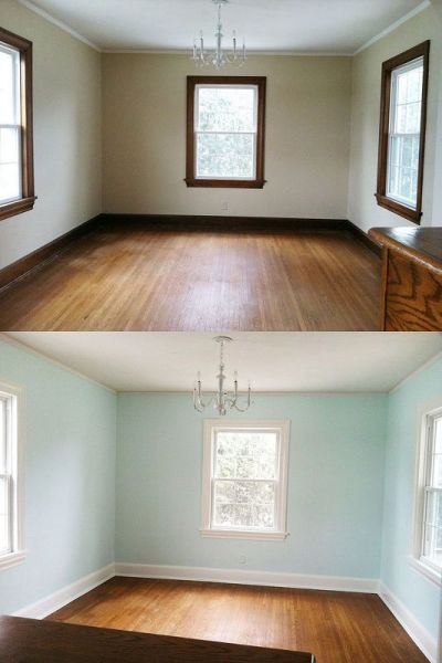 Painting Trim, a Before and After | Nice, The o'jays and Painting trim