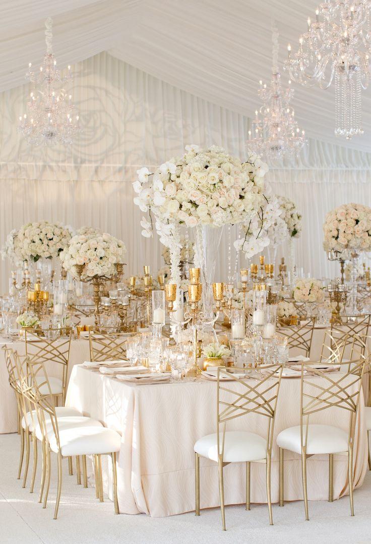 wedding ballroom decor wedding decor 21 Gorgeous Ways to Incorporate Gold into Your Wedding D cor