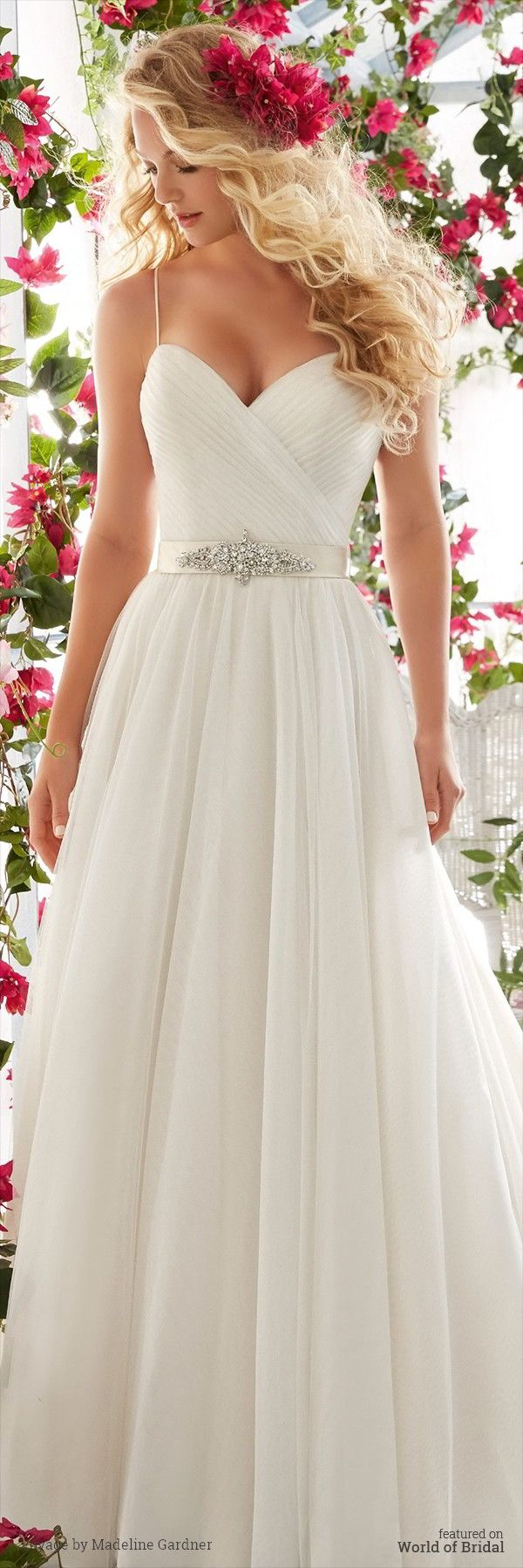 wedding dress simple wedding gown Voyage by Madeline Gardner Spring Wedding Dresses Mori Lee