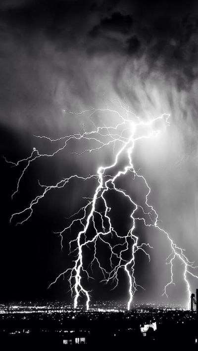 Storm Lightening Over City #iPhone #7 #wallpaper | iPhone 7 wallpapers | Pinterest | Wallpaper ...