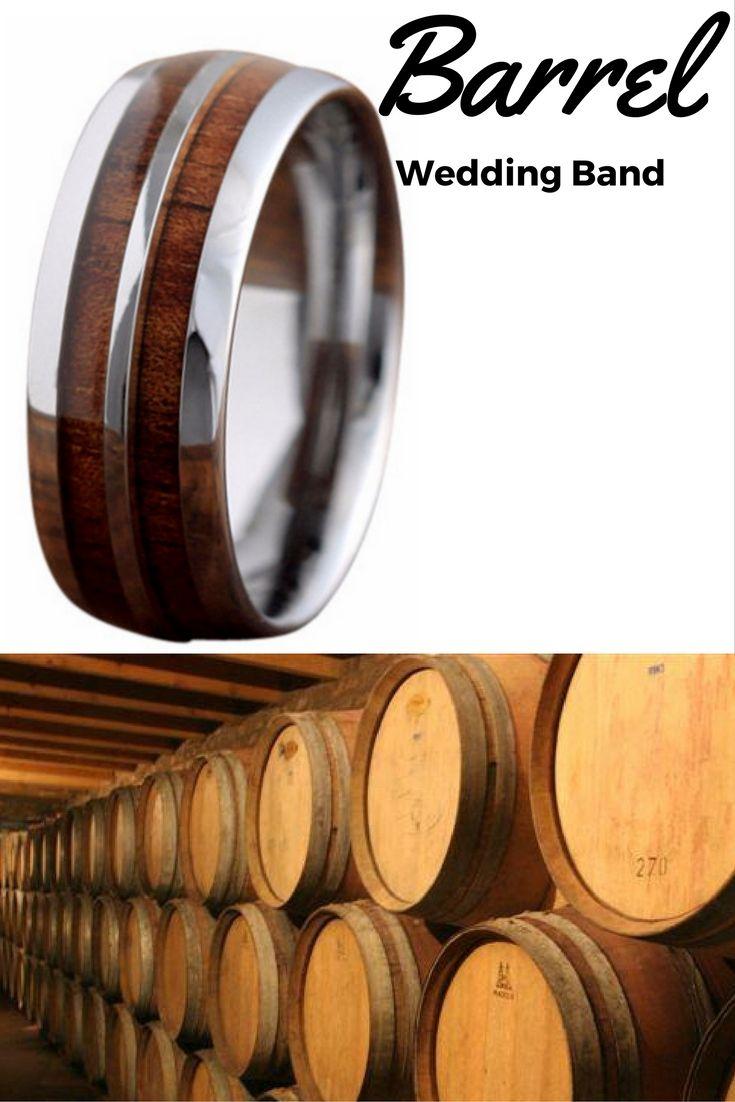 unique mens rings unique mens wedding rings 8mm Silver Tungsten Koa Wood Ring with Tungsten Stripe Unique Mens Wedding