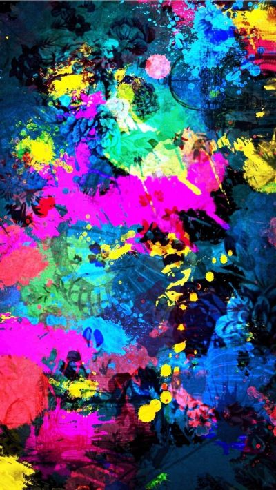 Tap image for more beautiful iPhone background! Colorful Splatter Splash - @mobile9 | Wallpapers ...