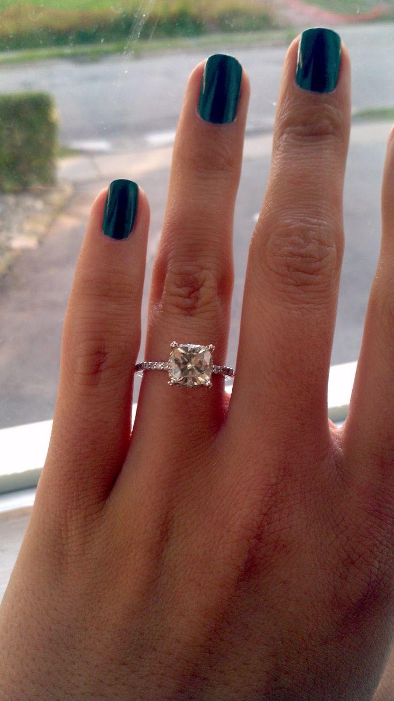 square engagement rings square diamond wedding rings moisanite engagement rings Beano s Baubles My Engagement Ring