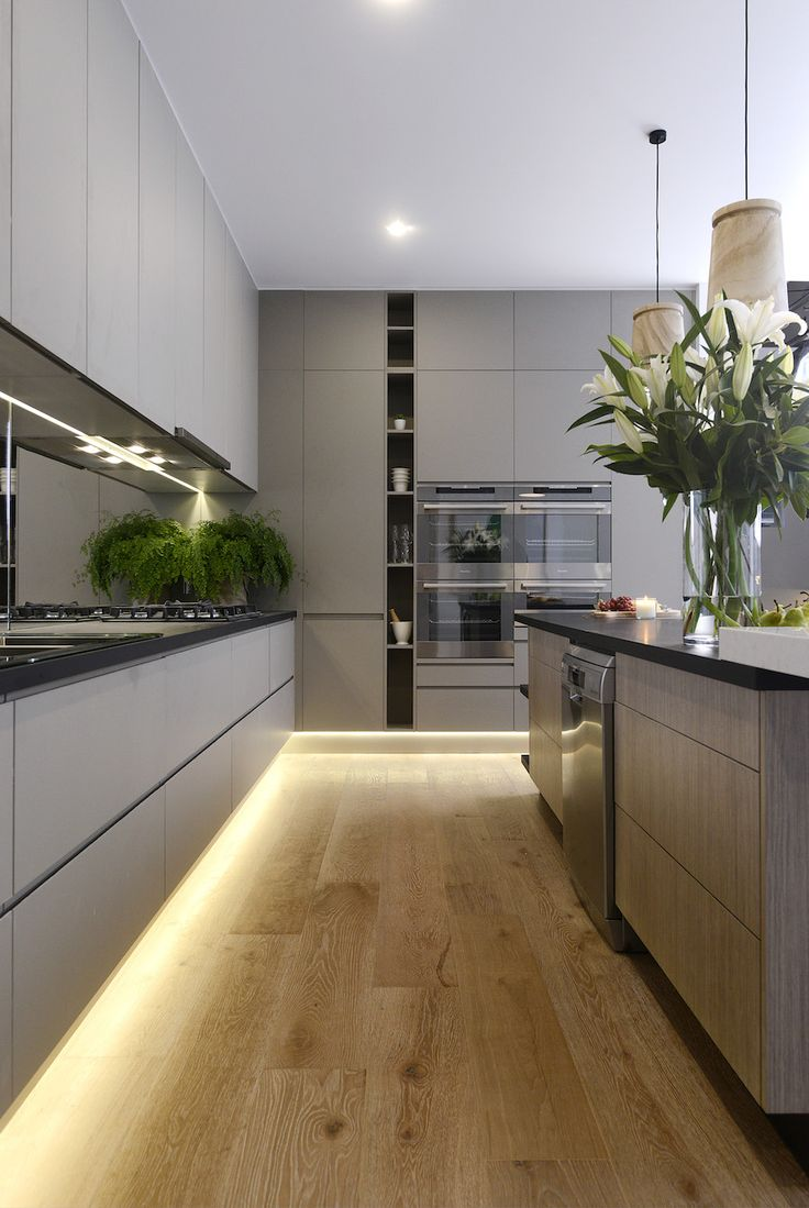 led lighting for kitchens led lights for kitchen Modern kitchen with under cabinet LED strip lighting