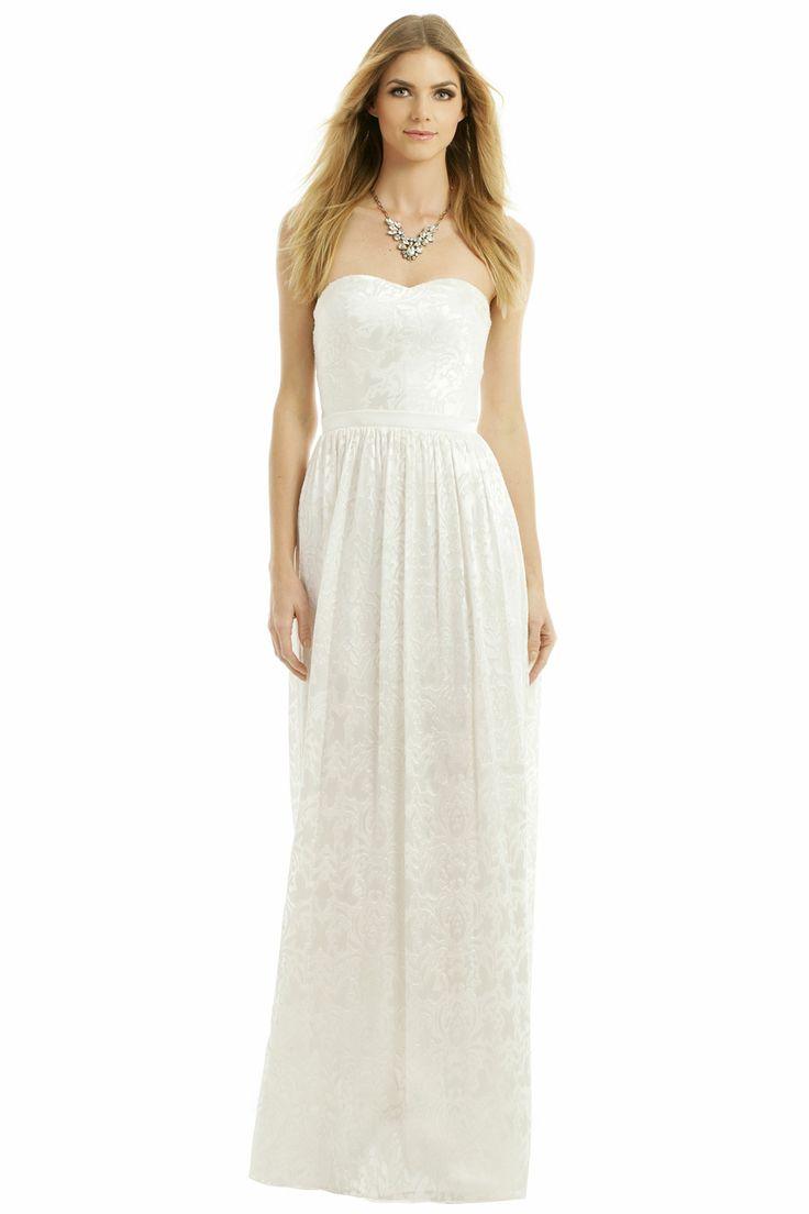 inspired dress the part wedding gown rental ERIN erin fetherston Sunset Beach Walk Gown