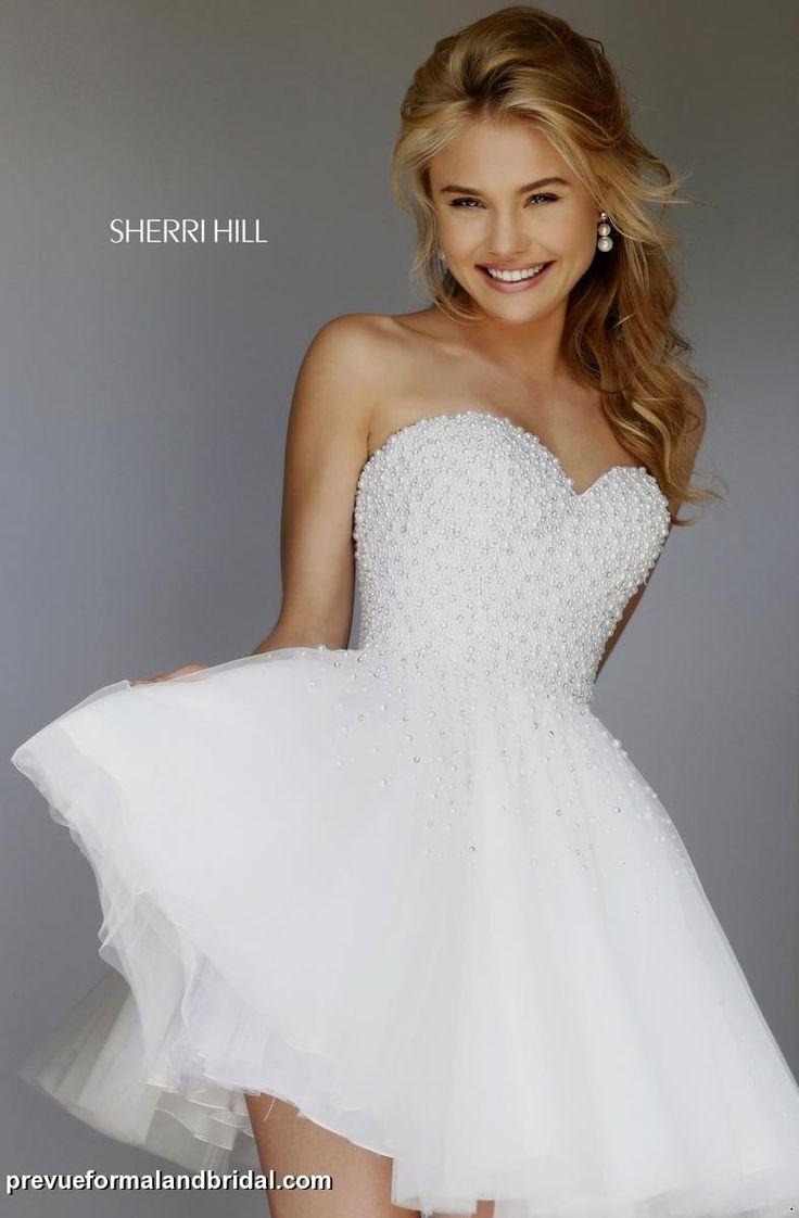 wedding reception dress reception wedding dresses Short full skirt SherriHill dress with beaded bodice Wedding reception dress Second