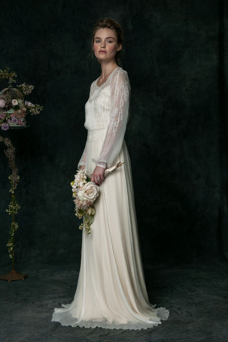 long sleeved wedding dresses long wedding dresses The Romantic Bridal Collection from SAJA Wedding