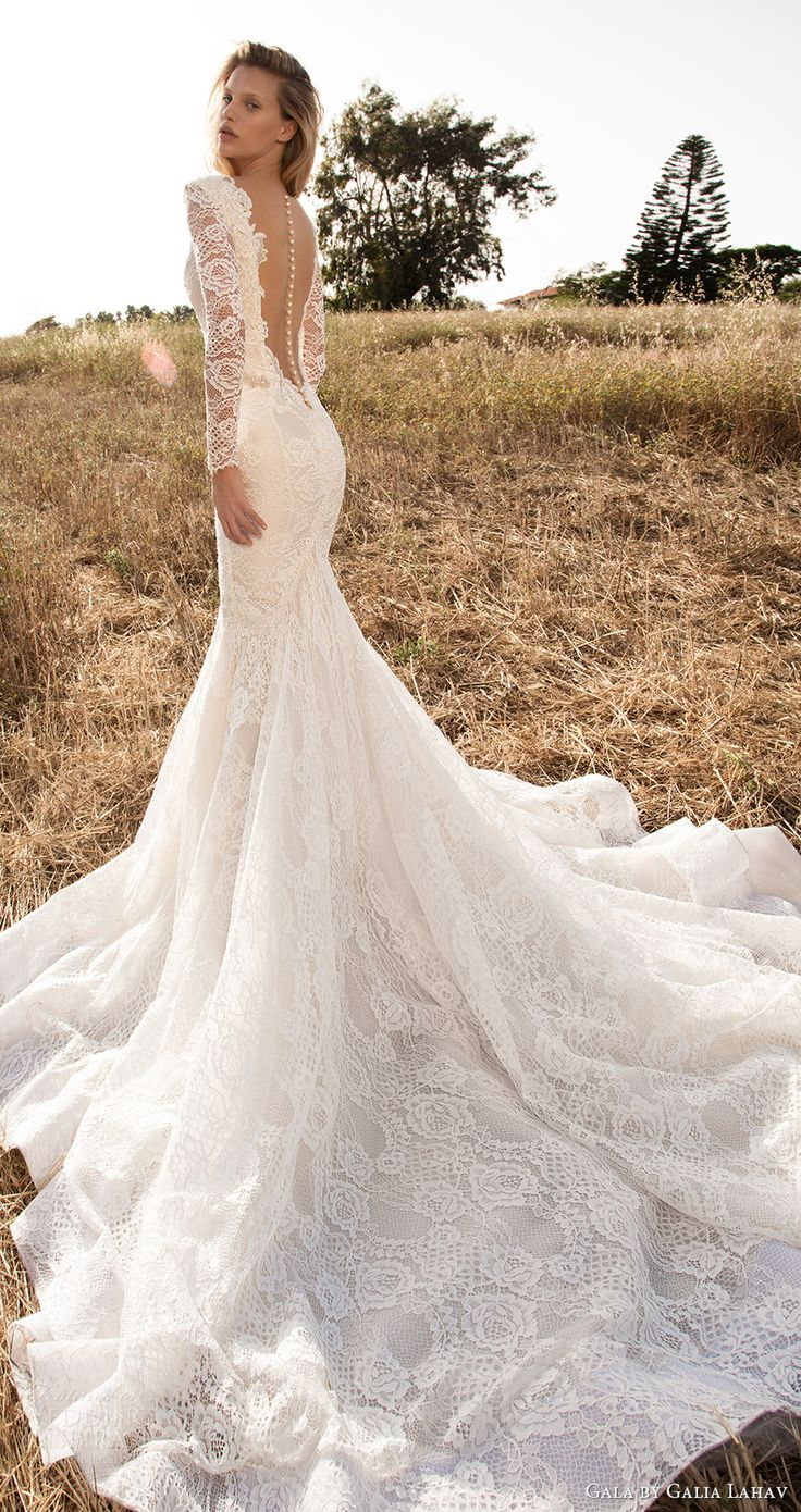 lace sleeve wedding dress long wedding dresses Gala by Galia Lahav Spring Wedding Dresses GALA No II Bridal Collection
