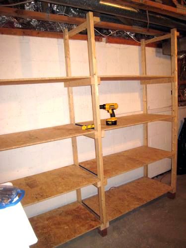 Free Standing Shed Shelves
