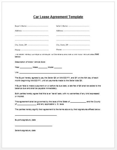 Loan Agreement Template | Microsoft Word Templates - car payment contract template | Real State ...