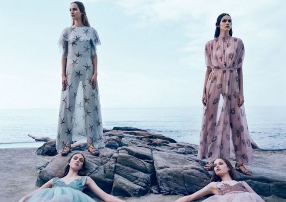 Vanessa, Hedvig, Maartje, Grace And Clementine By Michal Pudelka For Valentino Spring/Summer 2015