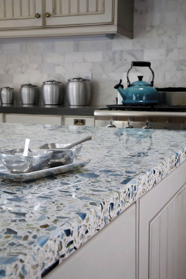 countertops glass kitchen countertops Vetrazzo recycled glass countertop made from Skyy Vodka bottles