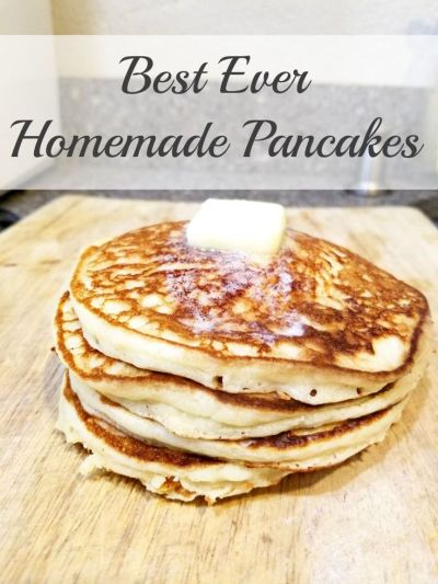 Best ever homemade pancakes recipe!! Make these amazing from-scratch pancakes for your family ...