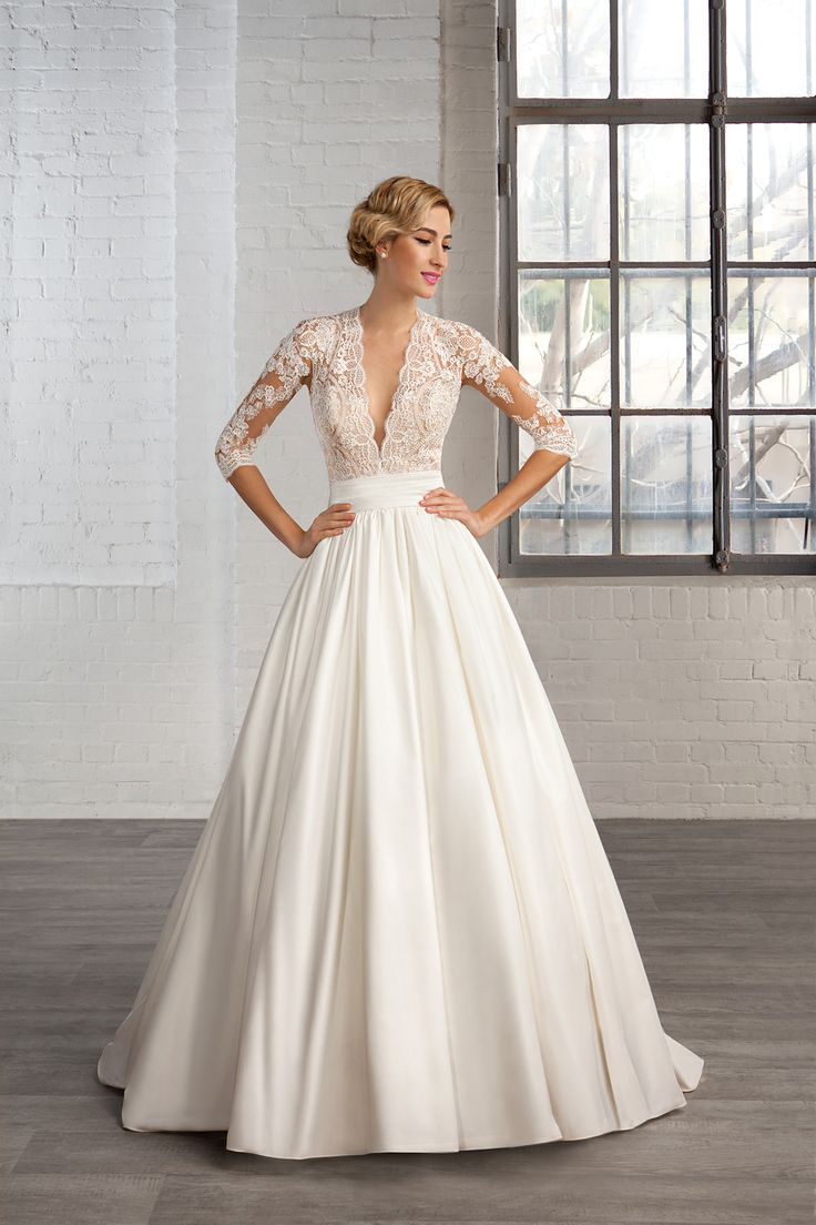 wedding gowns at the shop cheap used wedding dresses Gorgeous love sleeve wedding dress Talk about classy