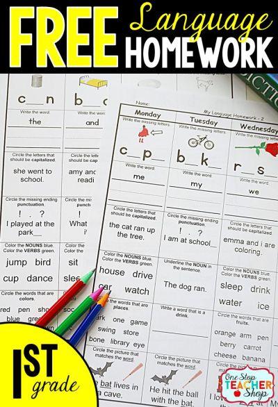 25+ best First Grade Homework ideas on Pinterest