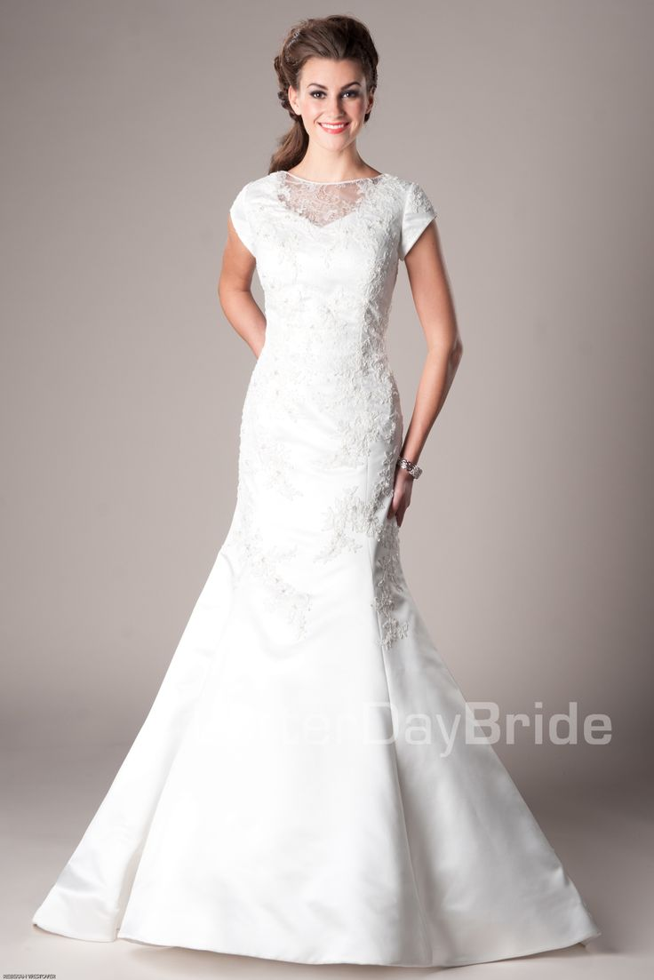 vestidos de novia modest wedding dress Mermaid Fit Flare Wedding Amesbury This is my wedding dress