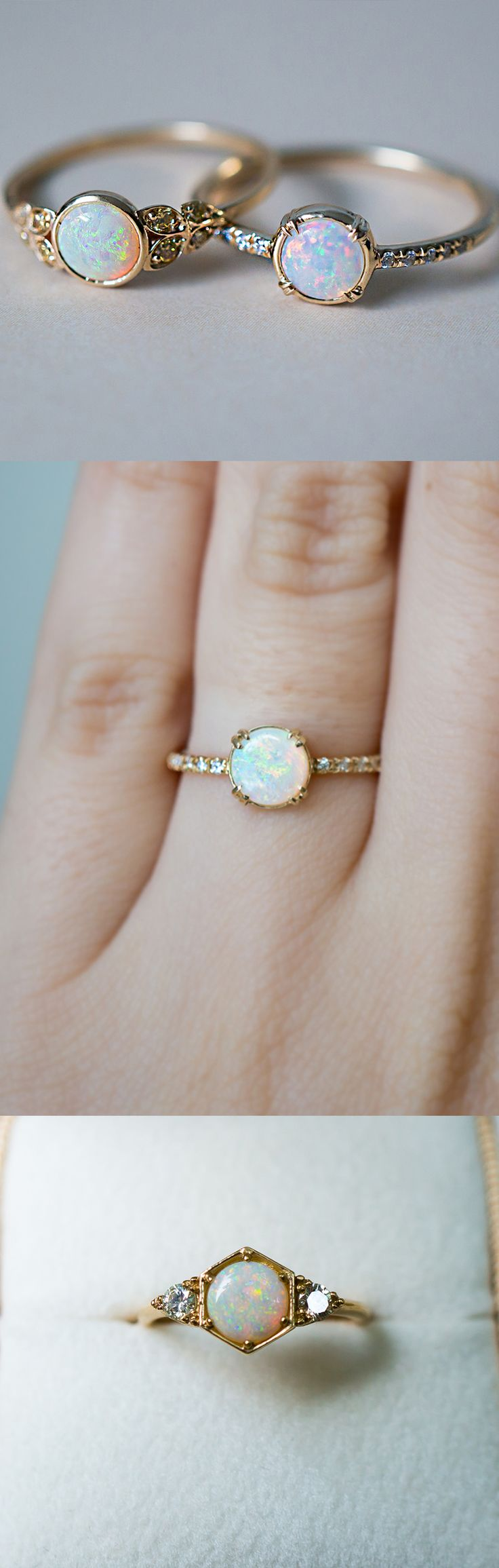 opal engagement rings opal wedding rings One of a kind Opal engagement rings inspired by vintage style Handcrafted by S