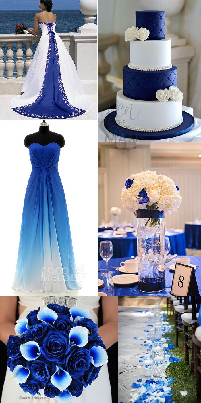 blue wedding dresses wedding dresses with blue Blue and white wedding bridesmaid dress
