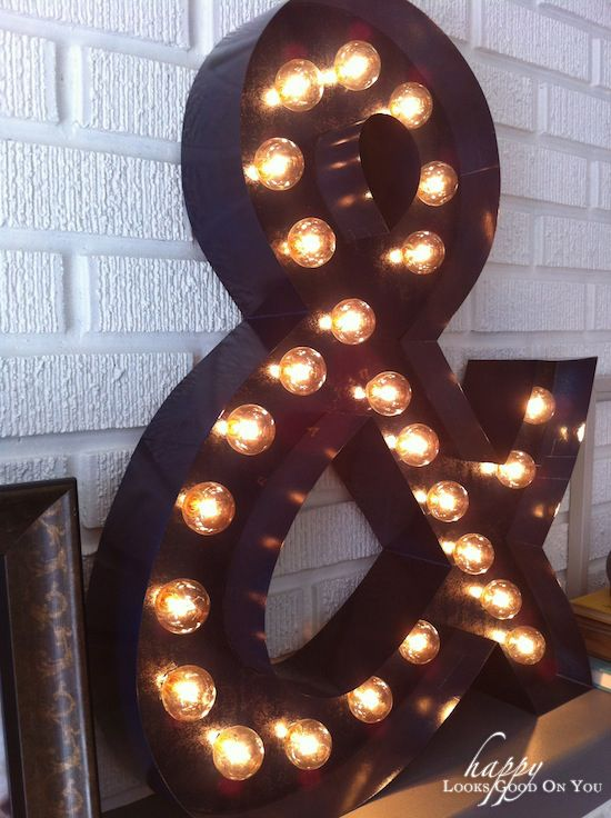 ampersand marquee light: