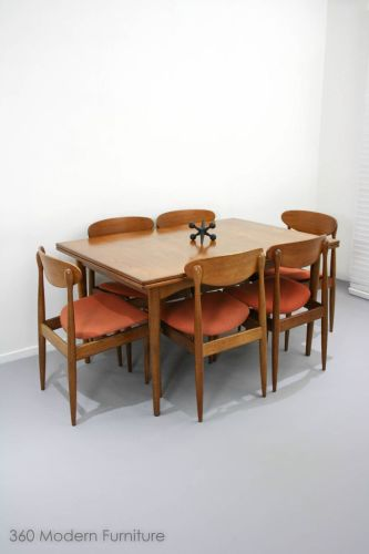 teak dining table retro kitchen table sets MID Century Parker SET OF 6 Spadeback Teak Dining Chairs Vintage Retro Danish ebay