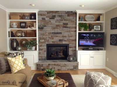 17 Best ideas about Bookshelves Around Fireplace on Pinterest | Shelves around fireplace ...
