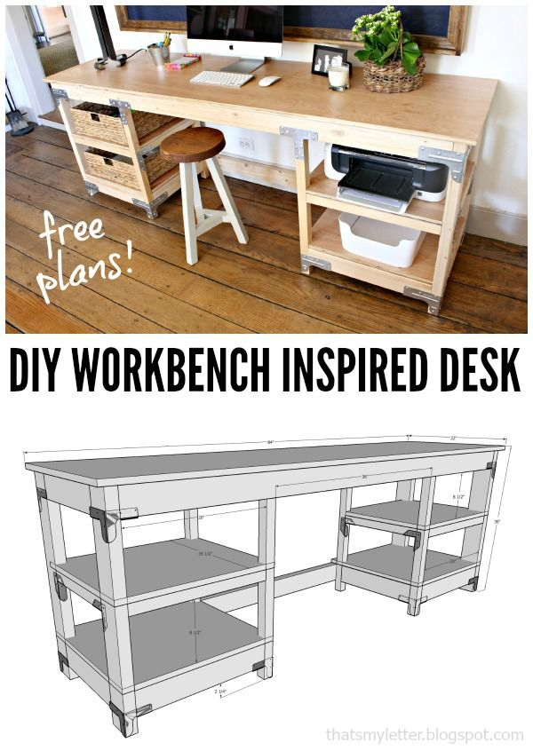 find this pin and more on scrapworklove getbuilding2015 diy workbench inspired desk office