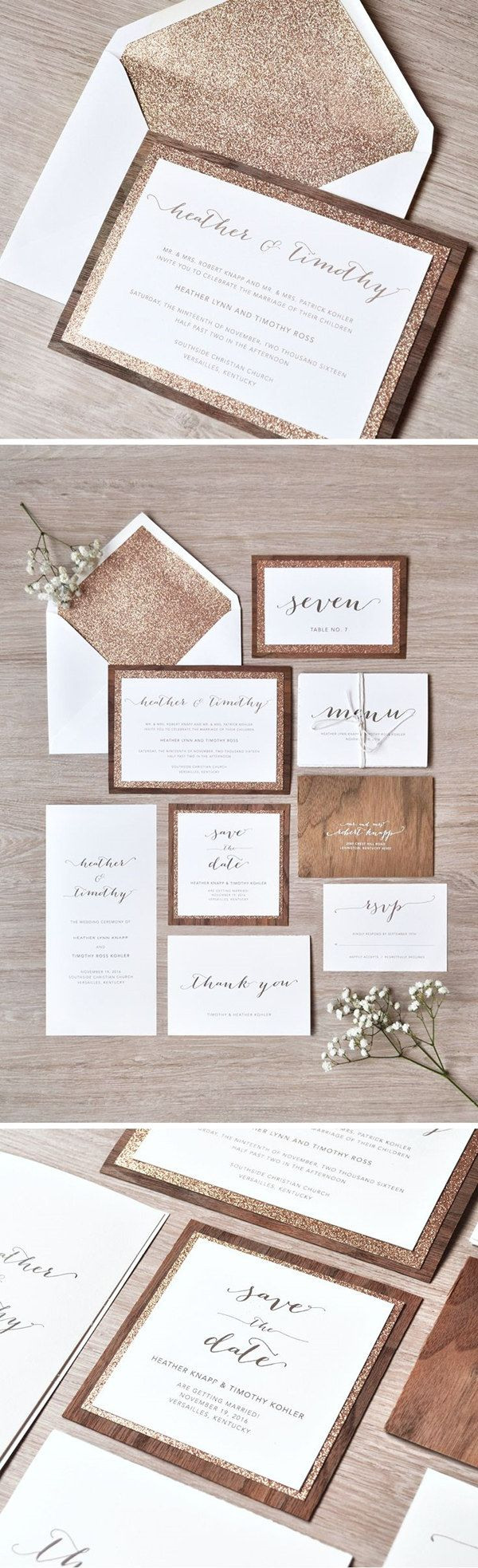 gold wedding invitations gold wedding invitations 10 Hottest Wedding Invitation Trends for