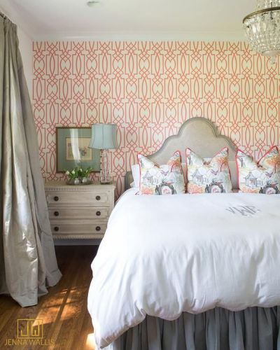 1000+ ideas about Wallpaper Headboard on Pinterest   Diy Wallpaper, Headboards and Bedrooms